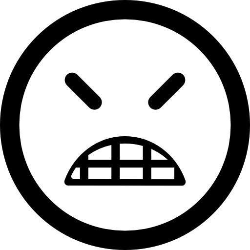 Angry Emoticon Square Face With Closed Eyes Icons Free Download