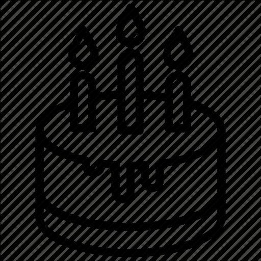 Birthday Cake, Cake, Chocolate Cake, Dessert, Drip Cake Icon