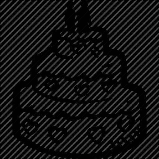 Cake, Engagement, Heart, Love, Mariage, Wedding, Wedding Cake Icon