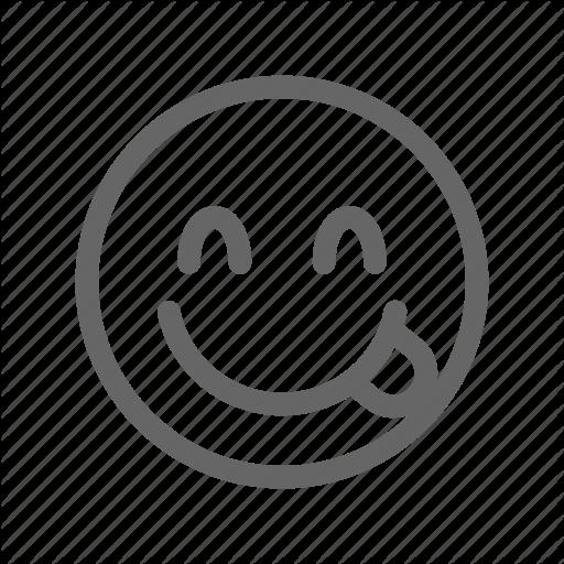 Delicious, Emoji, Emoticon, Smiley, Yummy Icon
