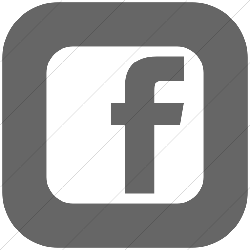 Flat Rounded Square White On Gray Social Media Facebook