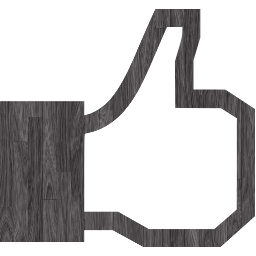 Black Wood Facebook Like Icon