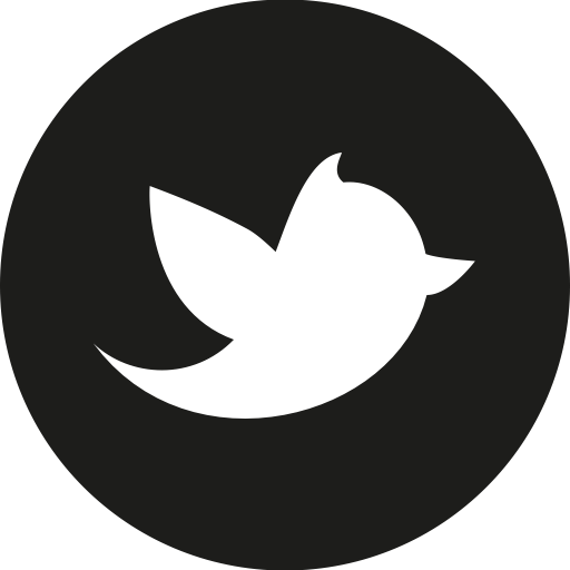 Black Twitter Icon Circle Images