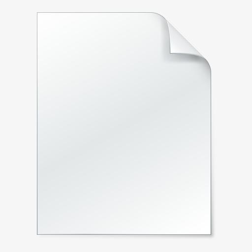 Large Beautifully Realistic Style Desktop Icon, White, Three