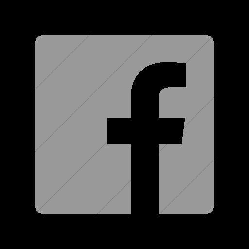 Simple Light Gray Foundation Social Facebook Icon