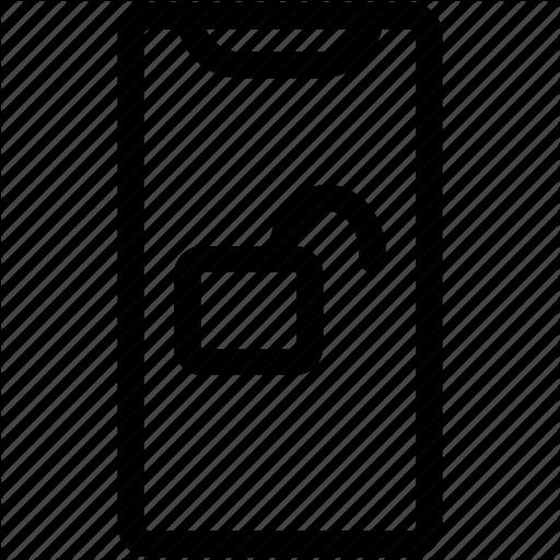 Face Id, Iphone, Iphone X, Padlock, Padlock Unlocked, Unlock Icon