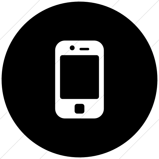 Flat Circle White On Black Broccolidry Iphone Icon