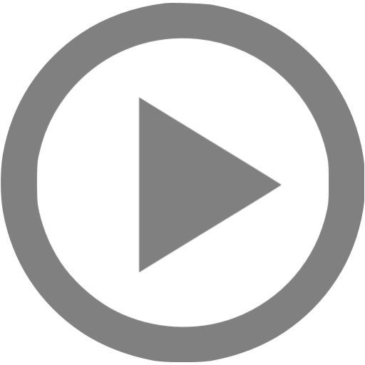 Gray Video Play Icon