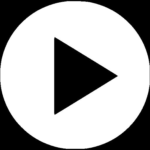 White Video Play Icon