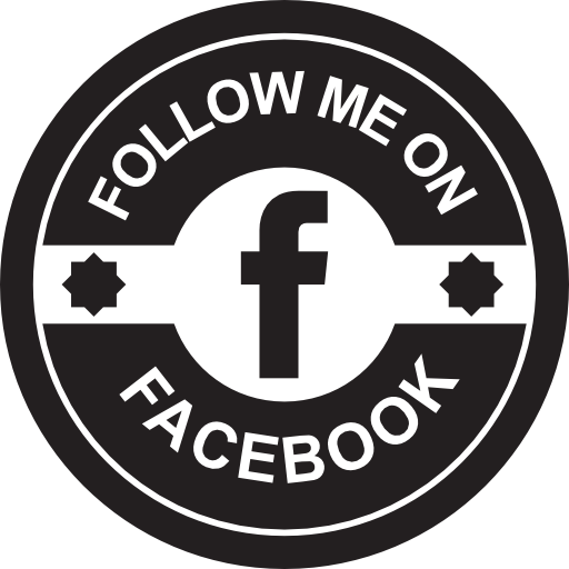 Badge, Badges, Social, Retro, Facebook, Circular, Follow Me, Retro