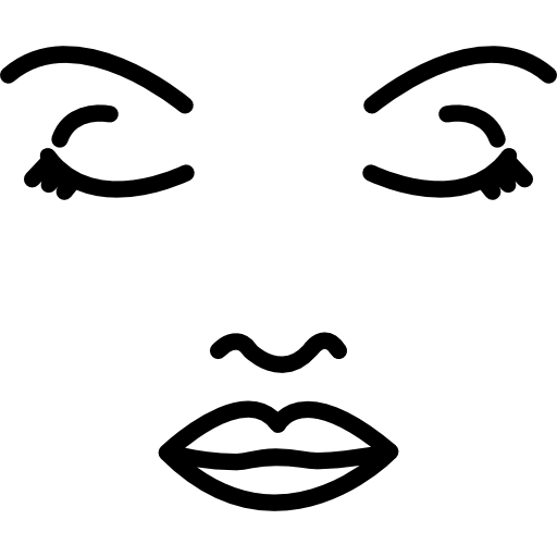 Face Of A Woman Outline Icons Free Download