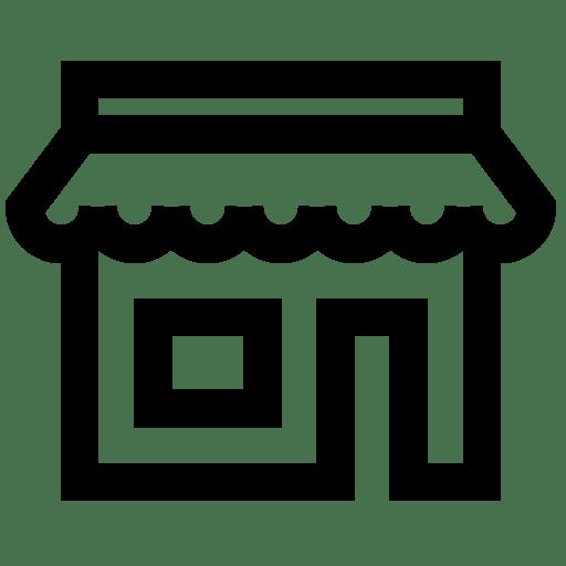 Cropped Generic Shopfront Icon