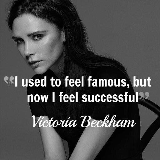 Victoria Beckham Quote Fashion Icon Victoria Beckham