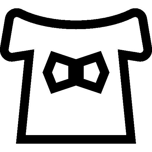 Fashion Bow Black Icon
