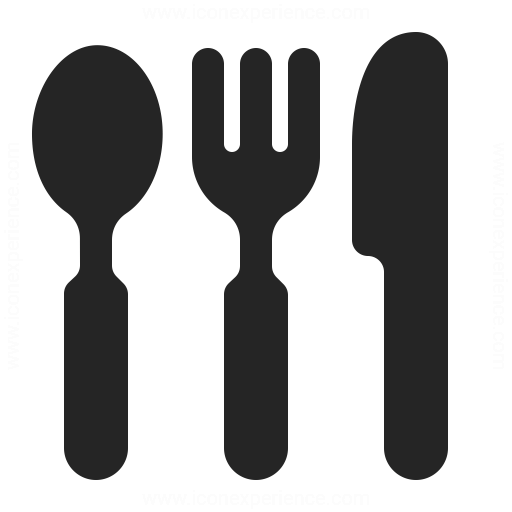 Knife Fork Spoon Icon Iconexperience