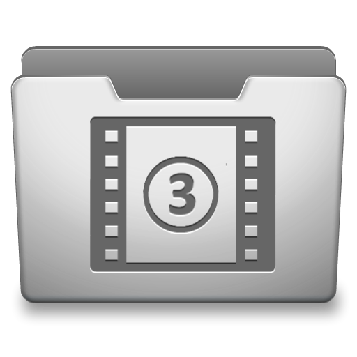 Aluminum Grey Movies Icon