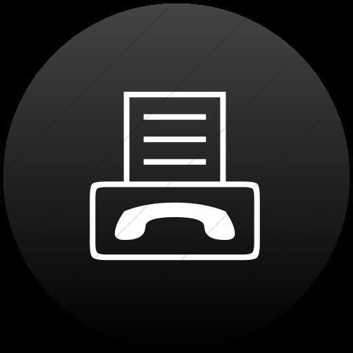 Flat Circle White On Black Gradient Classica Fax