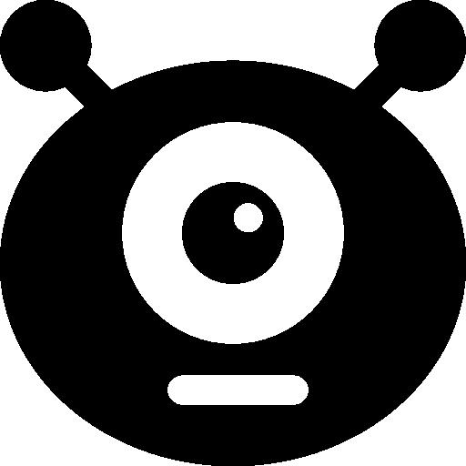 Monster Flat Black Icon