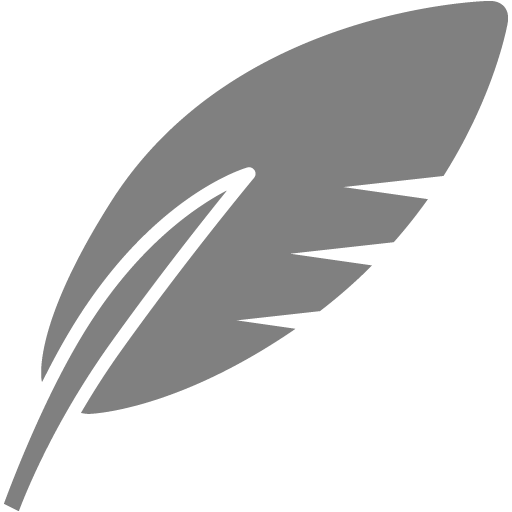 Gray Feather Icon