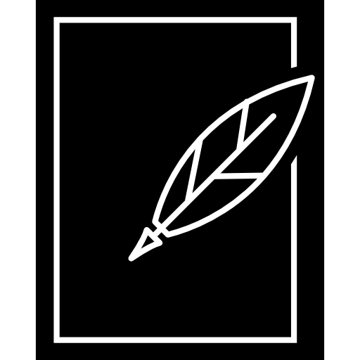 Feather Pen And Paper Outline Icons Free Download