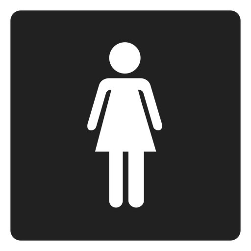 Female Gender Square Icon