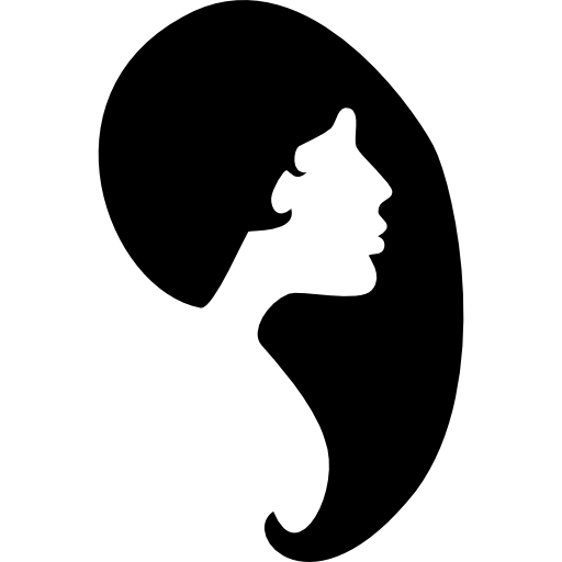 Female Hair Shape And Face Silhouette Icons Free Download