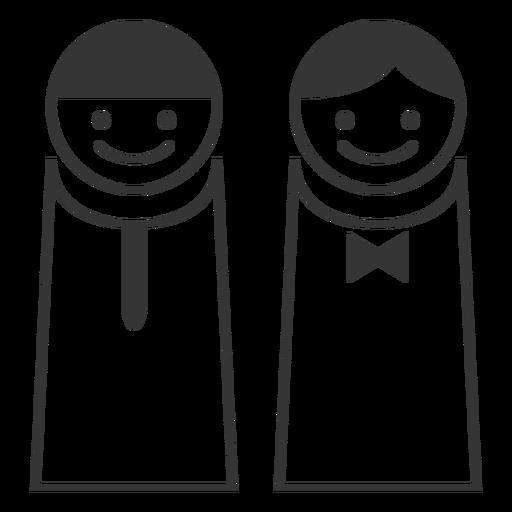 Simple Male Female Icon