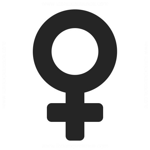 Symbol Female Icon Iconexperience