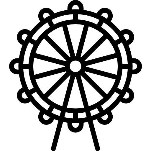 Ferris Wheel Free Vector Icons Designed