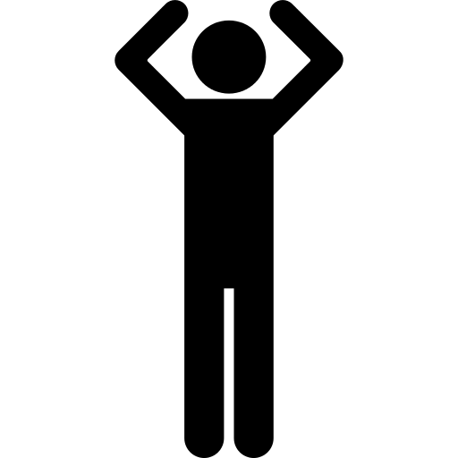 Basic Figure With Arms Up Png Icon