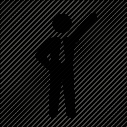 Business, Businessman, Dress Code, Formal, Pointing, Stick Figure