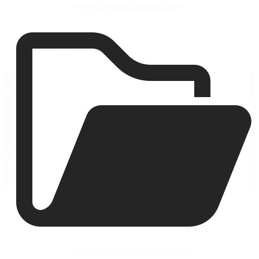 Folder Open Icon Iconexperience