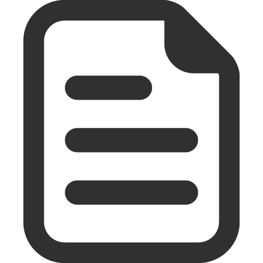 Document Icon Mono General Iconset Custom Icon Design