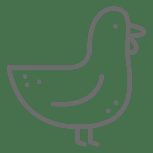 Chicken Stroke Icons
