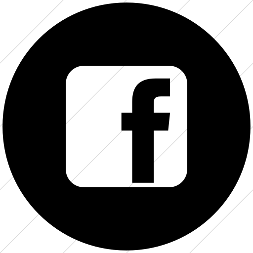 Flat Circle White On Black Raphael Facebook Icon