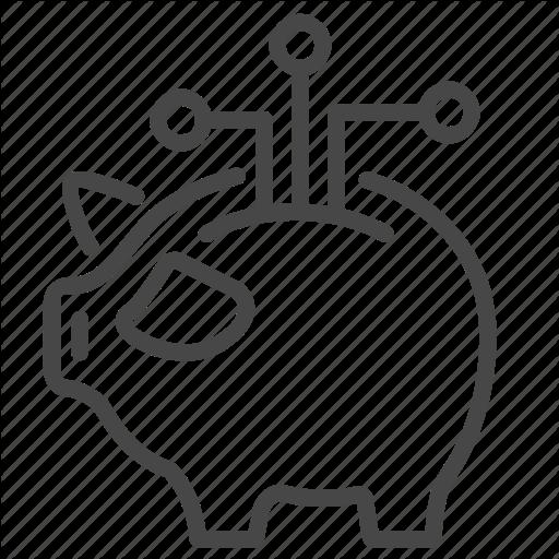 Bank, Digital, Finance, Fintech, Piggy, Saving Icon