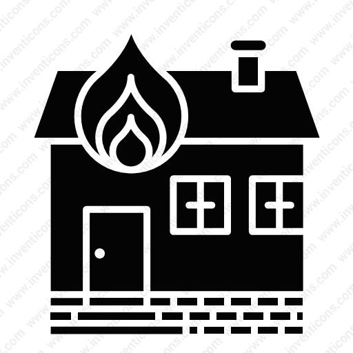 Download House,fire Icon Inventicons
