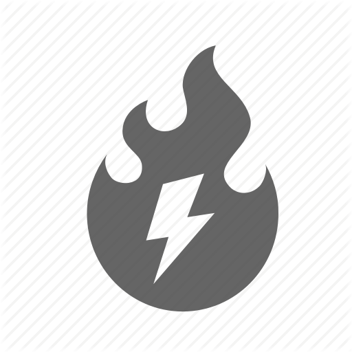 Fast, Fire, Flame, High, Lightning, Power, Speed Icon