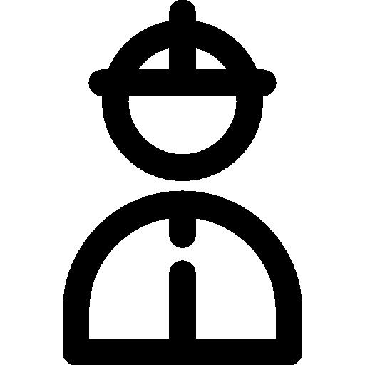 Fireman, Helmet, Protection, Security Icon