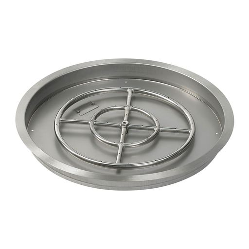 American Fireglass Stainless Steel Round Drop In Fire Pit Pan