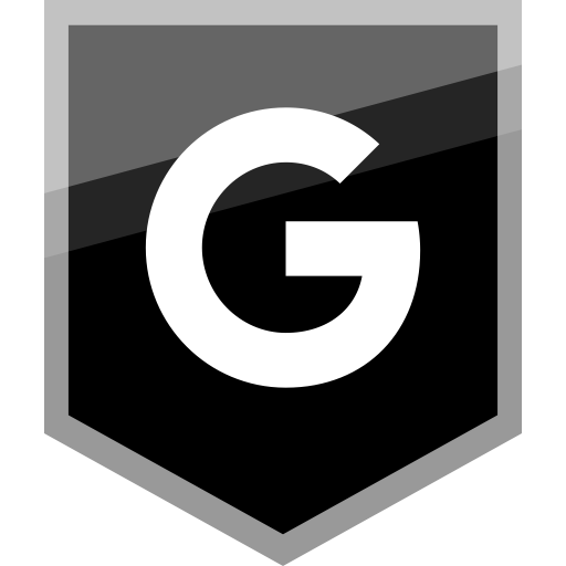 Google Flat Black Icon