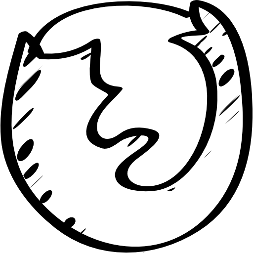 Firefox Sketched Logo Icons Free Download