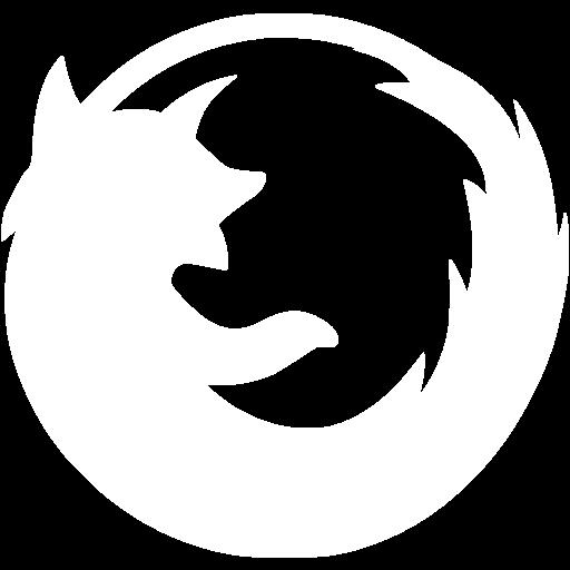 White Firefox Icon