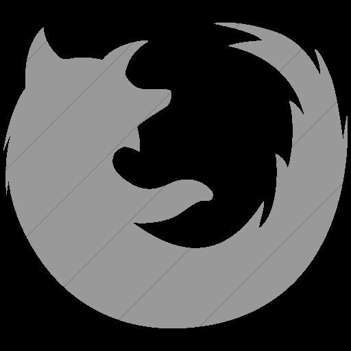 Simple Light Gray Social Media Firefox Icon