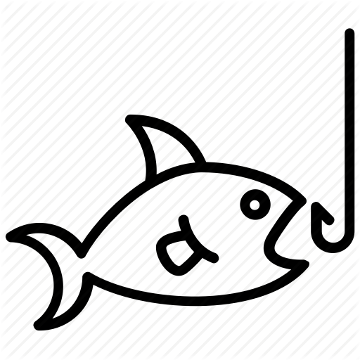 Fish, Fish Hunt, Fishing, Hook, Trapped Fish Icon