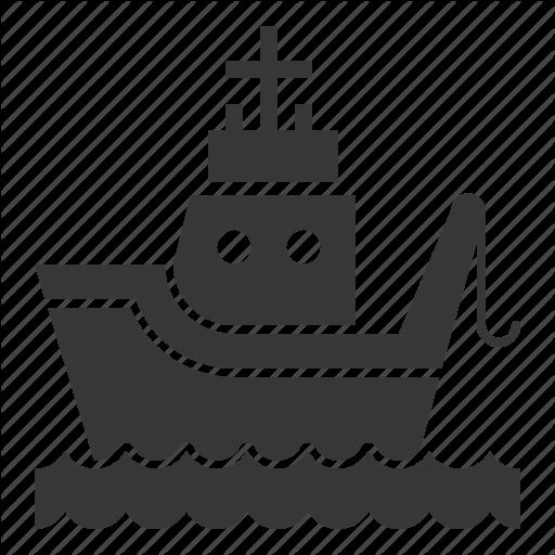 Fishing Boat, Nautical, Sea, Ship Icon