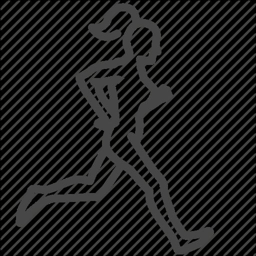 Exercise, Female, Jogging, Run, Training, Woman, Workout Icon