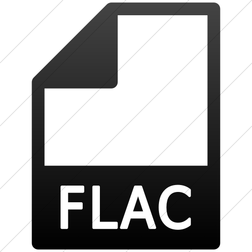 Simple Black Gradient Mime Types Document Flac Icon