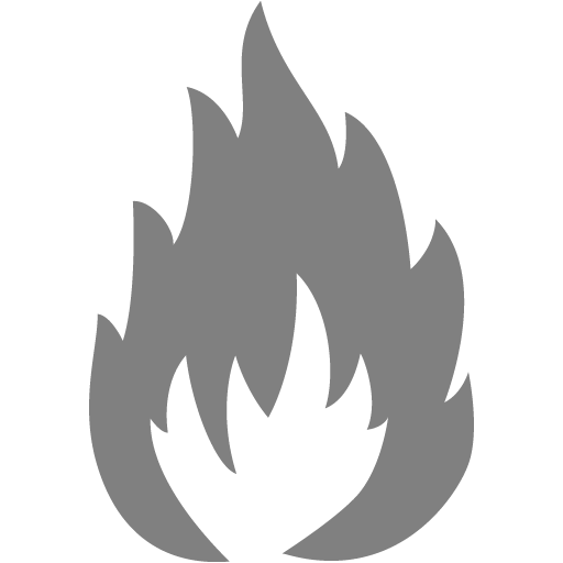 Gray Flammable Icon