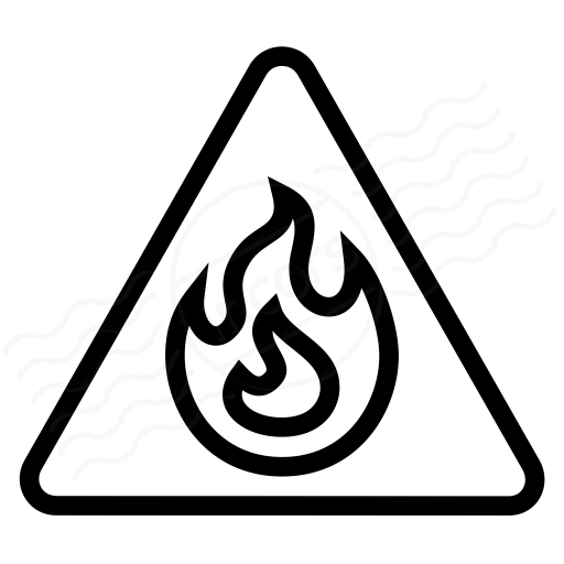 Iconexperience I Collection Sign Warning Flammable Icon